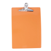 Unique Bargains Office School A4 Paper File Note Holder Clip Clamp Board Clipboard Orangered