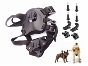Adjustable Pet Dog Harness Back Chest Strap Mount With Buckle Screw Sports Camera Products Gopro Dog For GoPro Hero Series Compatible SJ4000 xiaoyi