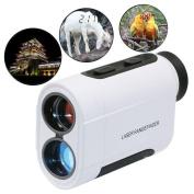 Golf Rangefinder-Monocular Binoculars-Rangefinder for Hunting and Golf-Distance Metre Handheld Telescope 656 Yards(White) By Teepao