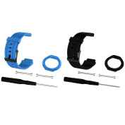 For Forerunner 225 Watch Bands, Replacement Straps Bands for Garmin Forerunner 225 GPS Running Watch, Blue+Black
