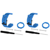 For Forerunner 225 Watch Bands, Replacement Straps Bands for Garmin Forerunner 225 GPS Running Watch, Blue+Blue