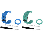 For Forerunner 225 Watch Bands, Replacement Straps Bands for Garmin Forerunner 225 GPS Running Watch, Blue+Teal