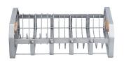 "KitchenCraft Industrial Kitchen Vintage-Style Metal Dish Drainer Rack with Wooden Handles, 40.5 x 25.5 x 12.5 cm (16"" x 10"" x 5"") - Grey"