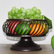 ZAIYI Fruit Tray Fruit Tray Creative Simple Dessert Fruit Basket Fruit Bowl Kitchen Storage Rack Fruits Bowls,D