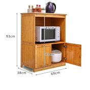 GYP Solid Wood Kitchen Receiving Cabinet, Shelf Lockers Microwave Oven Landing Oven Stand Spice Rack Household Shelf Kitchen Storage Rack Kitchen Appliance Home Accommodation Bamboo