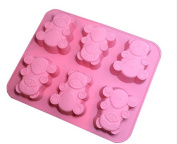 LAMEIDA Bear Shape Silicone Cake Mould Muffin Chocolate Sweet Mould Cake Jelly Ice Silicone Fondant Mould Baking Mould Decor for Home Kids Children