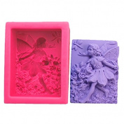 BEAUTY'S CASTLE Angel Baby Mermaid Silicone Handmade Soap Mould Cake Mould Decorating Fondant Baking Mould