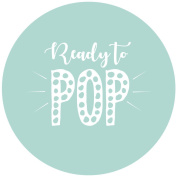 Ready to POP Baby Shower Party Stickers in Pink, Blue & Mint - Party Deco Accessories
