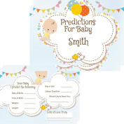 Personalised Baby Shower Prediction Cards Keepsake Baby Shower Game Activities 16 Guests FREE DElIVERY