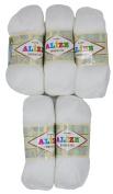 5 x 55 . 500 grammes 100% Bamboo Knitting Wool 100 g bambou-cotton white