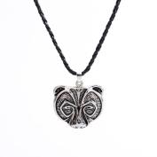 erthome 1X Bear Head Bear Necklace Legend Amulet Viking Norse Viking Amulet Necklace Pendant Talisman Jewellery