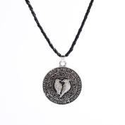 erthome Valknut Raven Pendant Runa Talisman Amulet Necklace Pendant Nordic Viking Knot