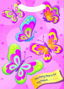 x12 GIRLS BUTTERFLY BIRTHDAY PARTY GOODIE BAGS ~ PLASTIC CELLO LOOT TREAT GIFT BAG