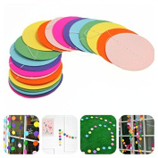 Toruiwa Paper Garland Round Colourful Paper Dot Hanging Decorations for Birthday Party Wedding Room 2pcs Rainbow Colour