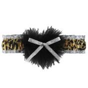 Ivy Lane Design Zooey Leopard Print Garter, Metallic Silver