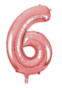 Rose Gold Giant Number 6 Balloon Decorations Party Celebration Gifts Accessories