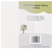 OfficeTree ® 100 sheets of transparent A4 paper - 100 g/sqm premium quality - white - Drawing, crafts, making elegant wedding invitations, menus, vouchers, cards - can be printed on both sides