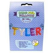 """Name Foil Balloons 16""""/41cm Air Filled 'Tyler'"""