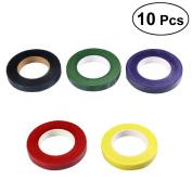 BESTOMZ 10Pcs Colourful Masking Tape DIY Arts Supplies Kit
