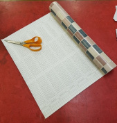 FABLON SELF ADHESIVE IMMITATION TILE BOARD EFFECT 450mm wide x 1 metre FREEPOST