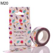 Everyday DIY Colourful Adhesive Printing Unicorn Washi Paper Tape Scrapbook Decor