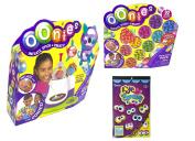 Oonies Inflator Toy Multicolor Starter Pack Bundle with Oonies Mega Pack Refill Pellets and 130 Darice Eye Stickers