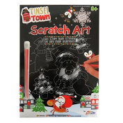 Tinsel Town Christmas Scratch Art Silver Foil Pack