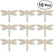 OULII 10Pcs Unfinished Wood Cutout Chips for Board Game Pieces Arts Crafts Projects Ornaments