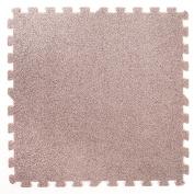 Grey Carpet Interlocking Foam Mats - Perfect for Floor Protection, Garage, Exercise, Yoga, Playroom. Eva foam