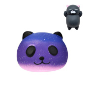 Stress Releasing Toys,Challen Galaxy Cute 10Cm Panda Baby Cream Scented Squishy Slow Rising Squeeze Kids Toys And A Free Toy Gift! Hot Sale!!