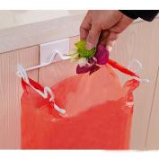 Under Kitchen Cabinet Door Trash Bag Holder Orgnaiser Garbage Rubbish Bags Hanging Hook Shelf Storage Rack Waste Carrier Bag