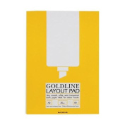 Goldline Layout Pad Bank Paper Acid-free 50gsm 80 Sheets A3 Ref GPL1A3Z Pack 5 122436