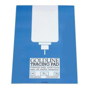 Goldline Professional Tracing Pad 90gsm 50 Sheets A4 Ref GPT1A4Z Pack 5 122428
