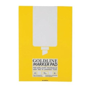 Goldline Marker Pad Bleedproof 70gsm 50 Sheets A3 White Ref GPB1A3Z Pack 5 122439
