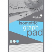 Silvine Student Graph Pad 90gsm 5mm Square 50 Sheets A4 Ref A4GPX-1 235936