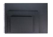 Black Sketchbook Photo Album A3 Landscape Ringbound with Black Paper 20 Sheets