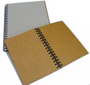 Grey Board Spiral Kraft Book 280mic 30s Long Edge A3