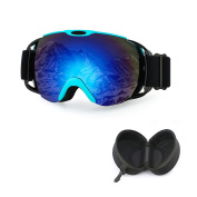 OTG Ski Goggles with Case ,iTavah Snowmobile Snowboard Skiing Glasses for Men Women & Younth Snow Outdoor Sports ,100% UV Protection, Anti-Fog ,Over the Glasses