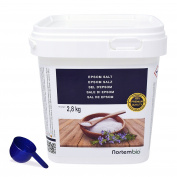 Epsom Salt NortemBio 2,8kg, Concentrated source of Magnesium, 100% Natural Salt. Bath and Personal Care.