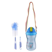 Baosity Baby Spill Proof Sports Water Shoulder Strap Bottle with Bottle Nipple Brush