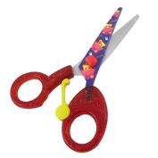 DealMux Stationery Plastic Coated Grip Paper Craft Cutter Cutting Scissor Red