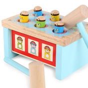 Early Educational Wooden Toys Whack-a-mole Noise Marker Tap on a Toy Cheering Stick Children Play Hamster