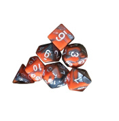 OVERMAL 7pcs/Set TRPG Game Dungeons & Dragons Polyhedral D4-D20 Multi Sided Acrylic Dice …