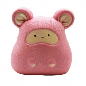 HooMore Cute Jumbo Pink Mouse Squishies Very Slow Rising Kawaii Scented Cream Foam Squishies Animal Squeeze Toy