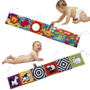 Infant Baby Crib Gallery High-Contrast Development Puzzle Zoo Soft Cloth Book Set Learning Educational Toys Gift