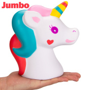 R • HORSE Jumbo Cute Unicorn Kawaii Cream Scented Squishies Slow Rising Decompression Squeeze Toys for Kids or Stress Relief Toy Hop Props, Decorative Props Large