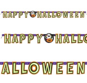 Happy Halloween Friendly Pumpkin Party Jointed Letter Banner Decoration