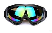Multisport Sunglasses/Motorcycle Riding Glasses/ Ski Goggles / Snowboarding Goggles,Black Frame Colourful Lens