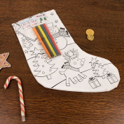 Set of Two Colour Your Own Christmas Stockings - Great gift idea for the kids!