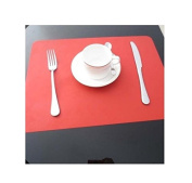 xinyiwei Waterproof Non-slip Coaster Heat Insulation Silicone Placemat Dining Table Mat - Red